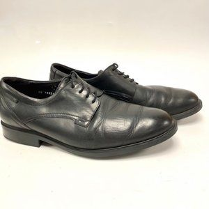 Mephisto Black Leather Lace Up Oxfords Sz 11